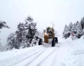 Andırın'da  karla mücadele çalışmaları