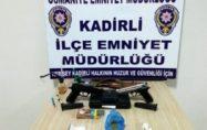 Kadirli'de uyuşturucu operasyonu: 14 gözaltı