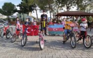 MİNİK YÜREKLER AZERBAYCAN'A DESTEK İÇİN PEDAL ÇEVİRDİLER