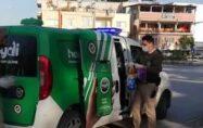 Osmaniye polisi kısıtlamada sokak hayvanlarını unutmadı