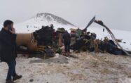 Bitlis'e helikopter düştü.. 11 şehidimiz var