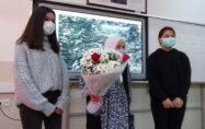 93 yaşındaki Emine Dal, lise öğrencileriyle tecrübelerini paylaştı