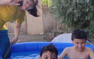 Kadirli'de çocukların havuz keyfi…