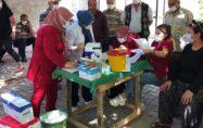 Sumbas'ta sağlık ekipleri yaylalardaki vatandaşlara Covid-19 aşısı ve testi yaptı