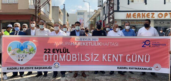 """KADİRLİ'DE """"AVRUPA HAREKETLİLİK HAFTASI"""" ETKİNLİĞİ DÜZENLENDİ"""