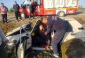 Trafik kazası:1 yaralı